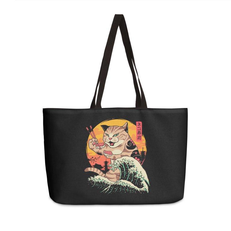 Neko Sushi Wave Accessories Weekender Bag Bag by Vincent Trinidad Art