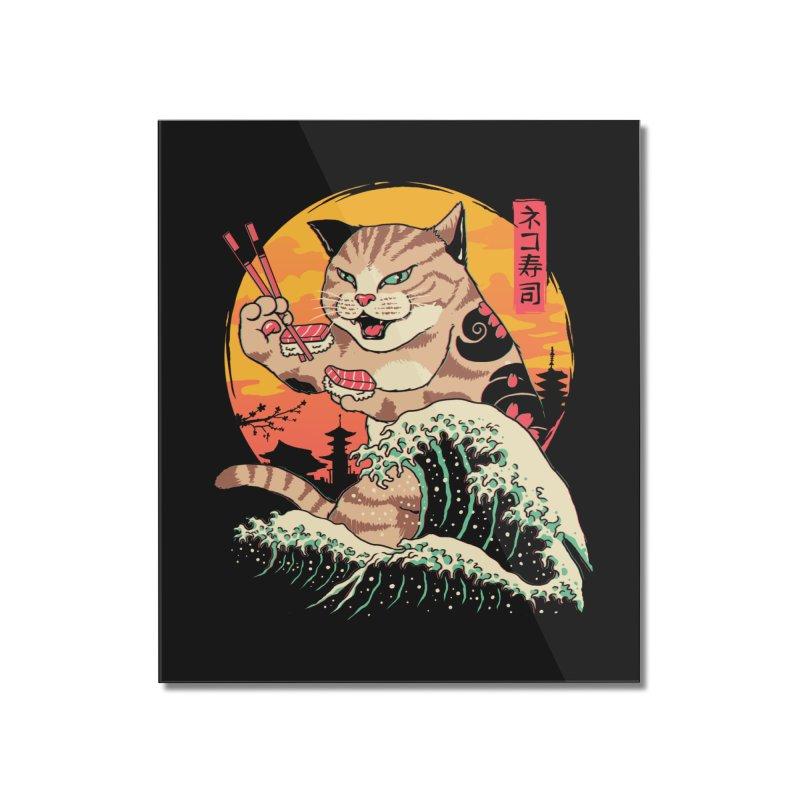 Neko Sushi Wave Home Mounted Acrylic Print by Vincent Trinidad Art