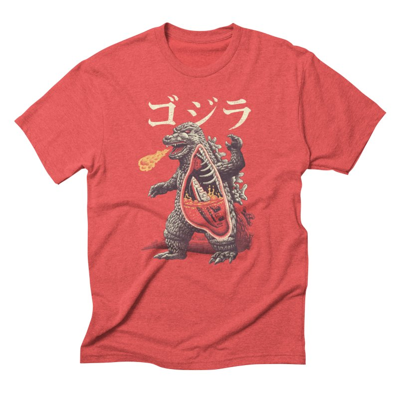 A Kaiju's Anatomy in Men's Triblend T-Shirt Chili Red by Vincent Trinidad Art