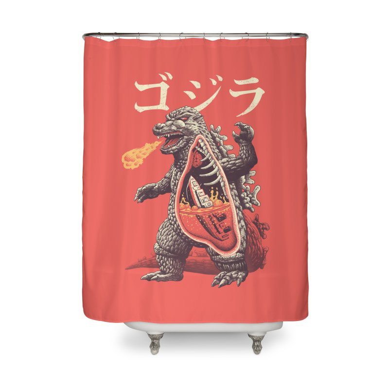 A Kaiju's Anatomy Home Shower Curtain by Vincent Trinidad Art