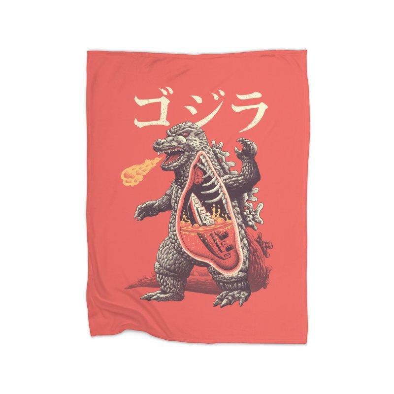 A Kaiju's Anatomy Home Fleece Blanket Blanket by Vincent Trinidad Art