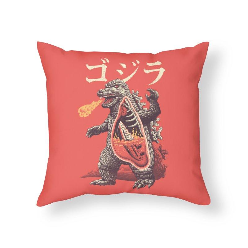 A Kaiju's Anatomy Home Throw Pillow by Vincent Trinidad Art