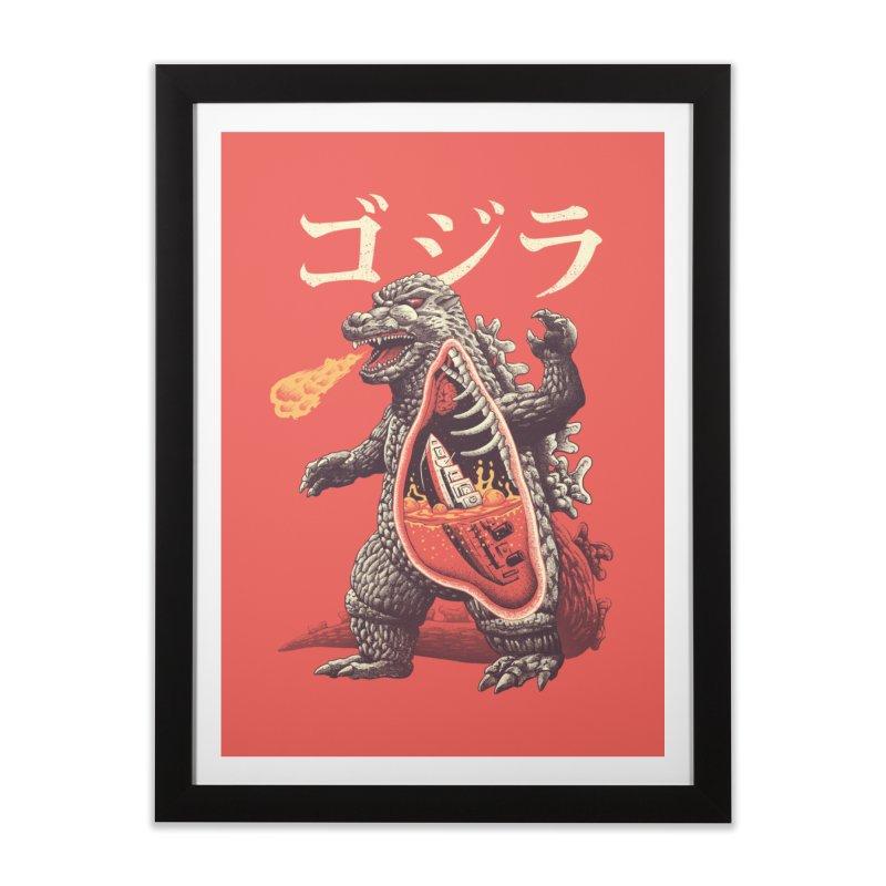 A Kaiju's Anatomy Home Framed Fine Art Print by Vincent Trinidad Art