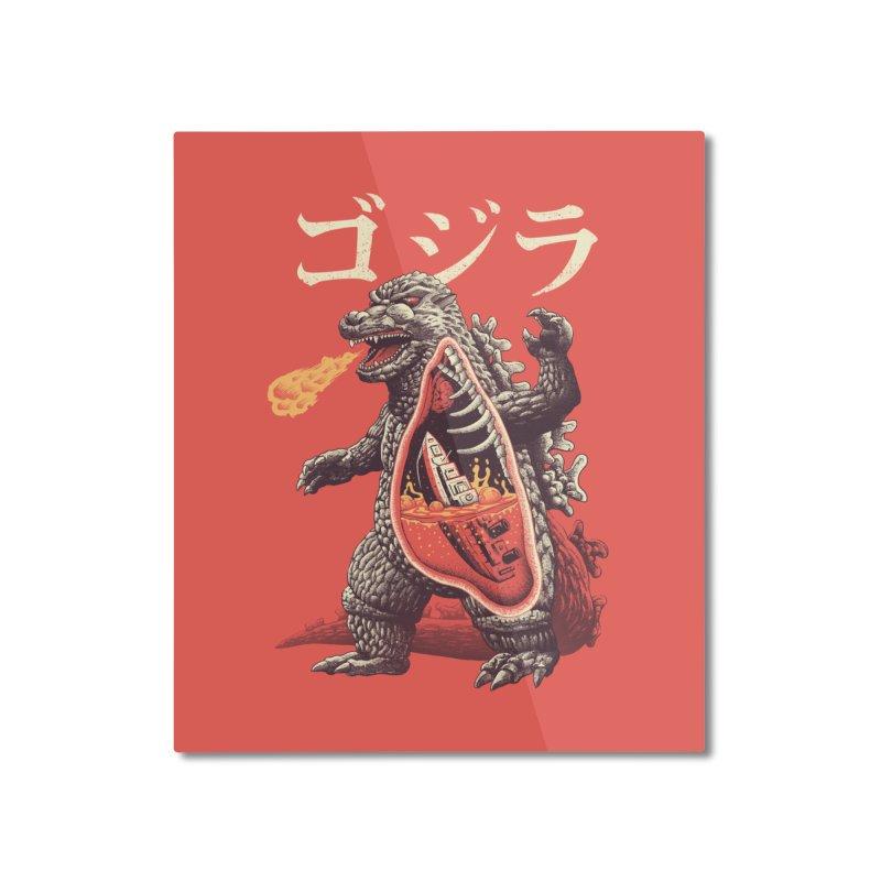 A Kaiju's Anatomy Home Mounted Aluminum Print by Vincent Trinidad Art