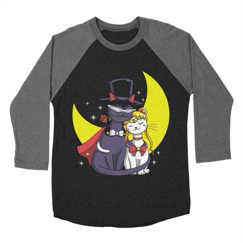 Moonlight Cats Men's Baseball Triblend T-Shirt by vincenttrinidad's Artist Shop