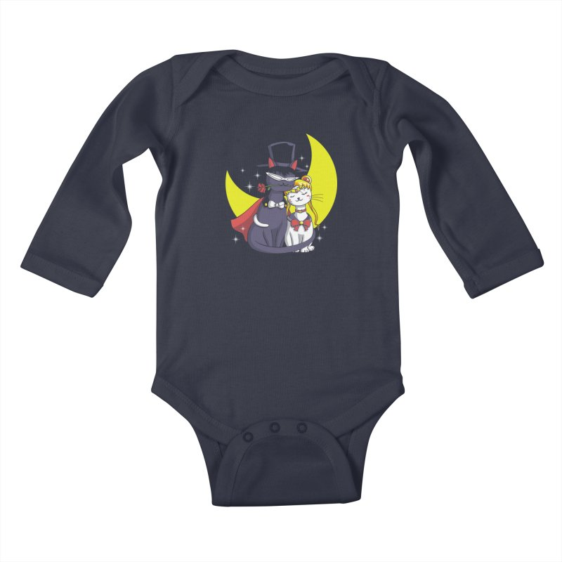 Moonlight Cats Kids Baby Longsleeve Bodysuit by vincenttrinidad's Artist Shop