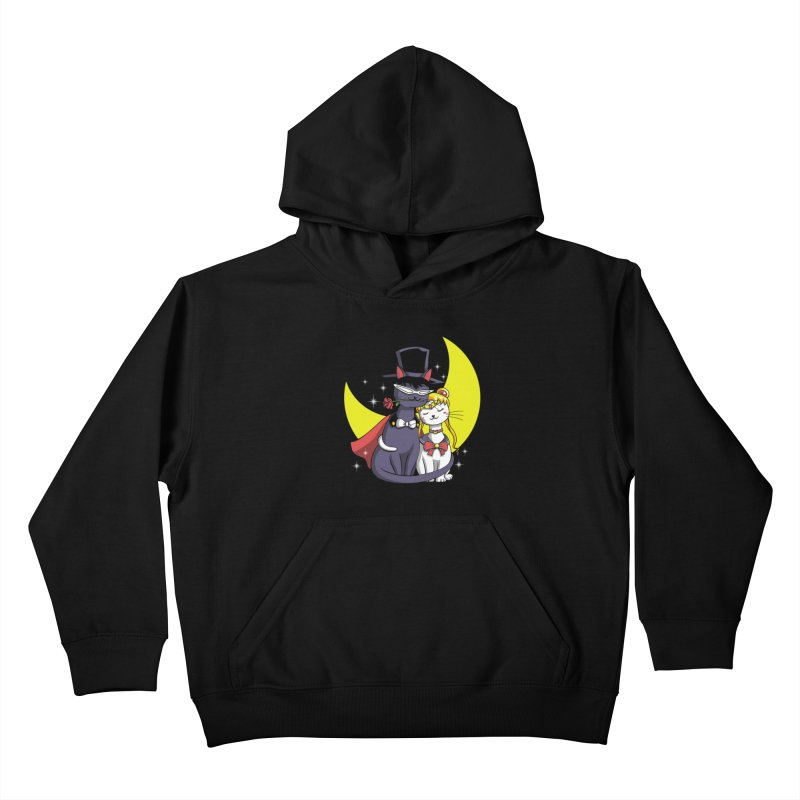 Moonlight Cats Kids Pullover Hoody by vincenttrinidad's Artist Shop