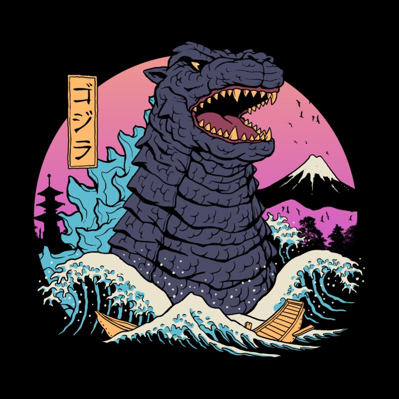 Rad Zilla Wave Women's T-Shirt by Vincent Trinidad Art