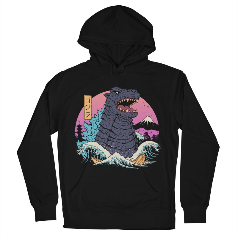 Rad Zilla Wave Men's French Terry Pullover Hoody by Vincent Trinidad Art
