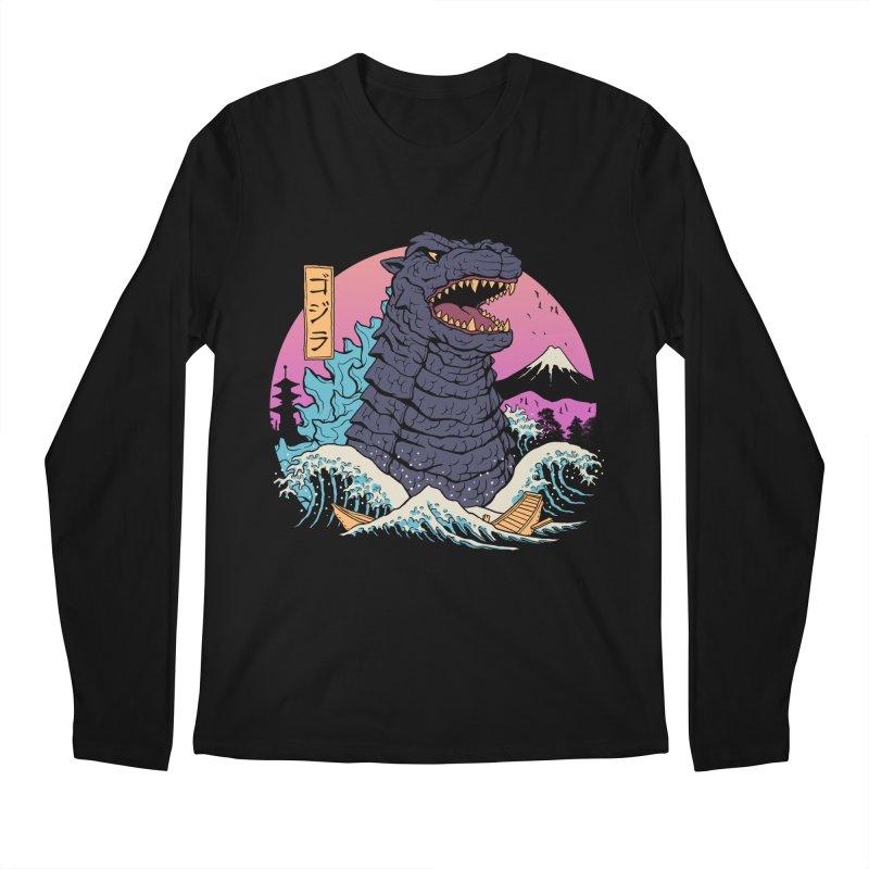 Rad Zilla Wave Men's Regular Longsleeve T-Shirt by Vincent Trinidad Art