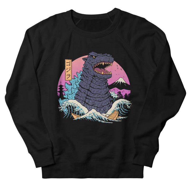 Rad Zilla Wave Men's French Terry Sweatshirt by Vincent Trinidad Art
