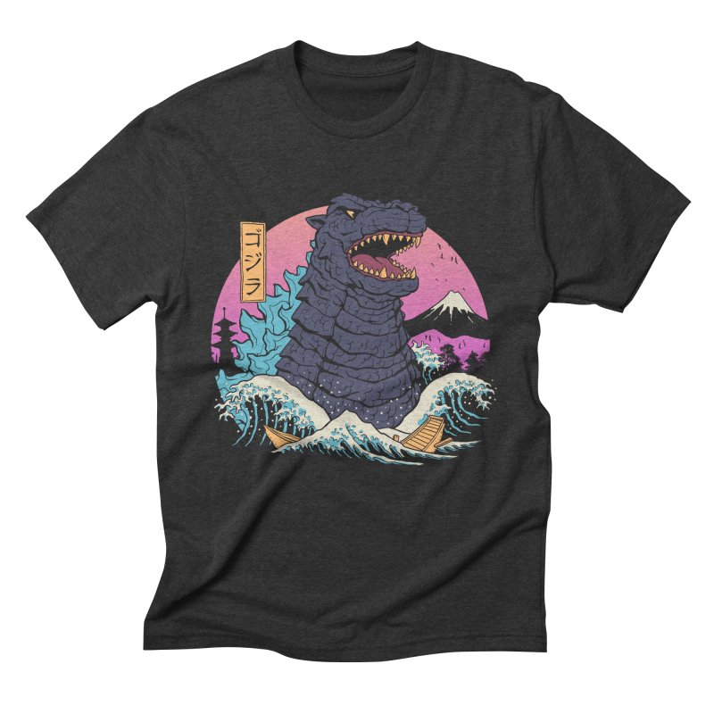 Rad Zilla Wave Men's Triblend T-Shirt by Vincent Trinidad Art