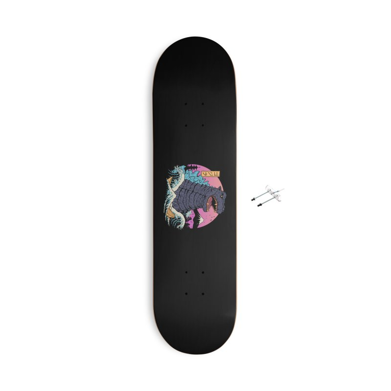 Rad Zilla Wave Accessories With Hanging Hardware Skateboard by Vincent Trinidad Art