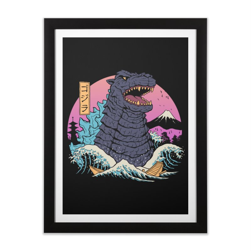 Rad Zilla Wave Home Framed Fine Art Print by Vincent Trinidad Art