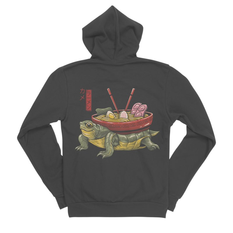 Kame Ramen Women's Sponge Fleece Zip-Up Hoody by Vincent Trinidad Art