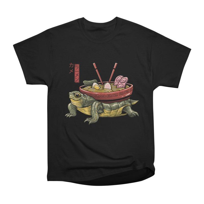 Kame Ramen Men's Heavyweight T-Shirt by Vincent Trinidad Art