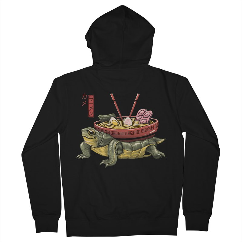 Kame Ramen Women's French Terry Zip-Up Hoody by Vincent Trinidad Art