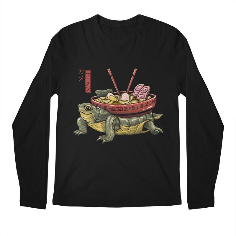 Kame Ramen Men's Regular Longsleeve T-Shirt by Vincent Trinidad Art