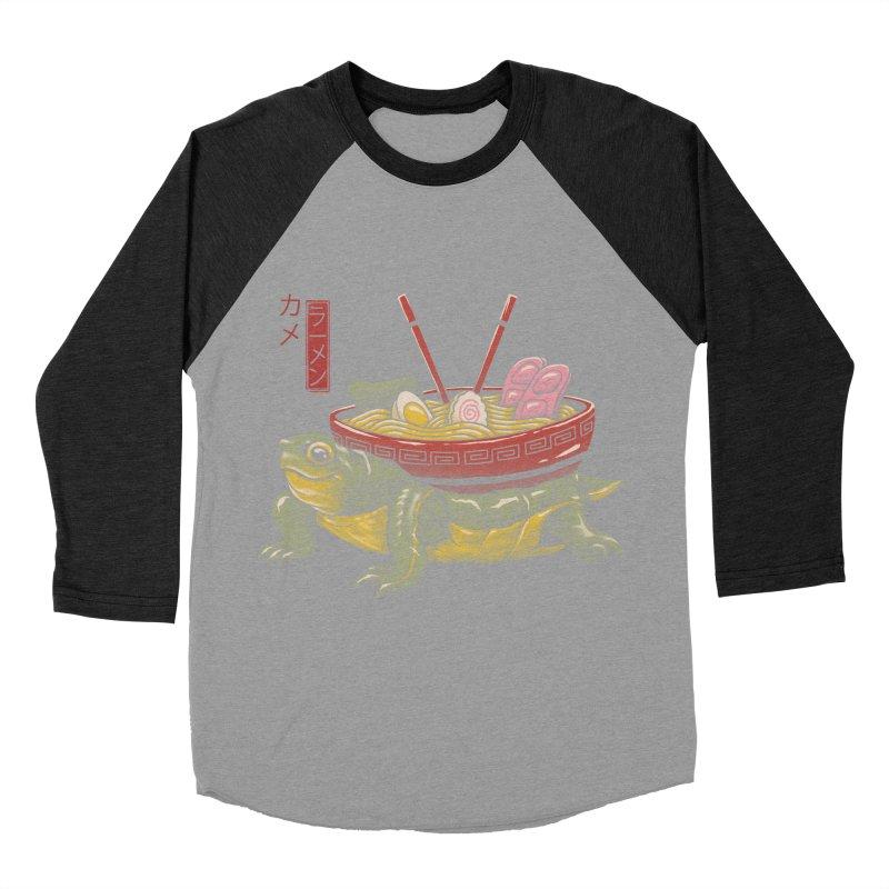 Kame Ramen Women's Baseball Triblend Longsleeve T-Shirt by Vincent Trinidad Art