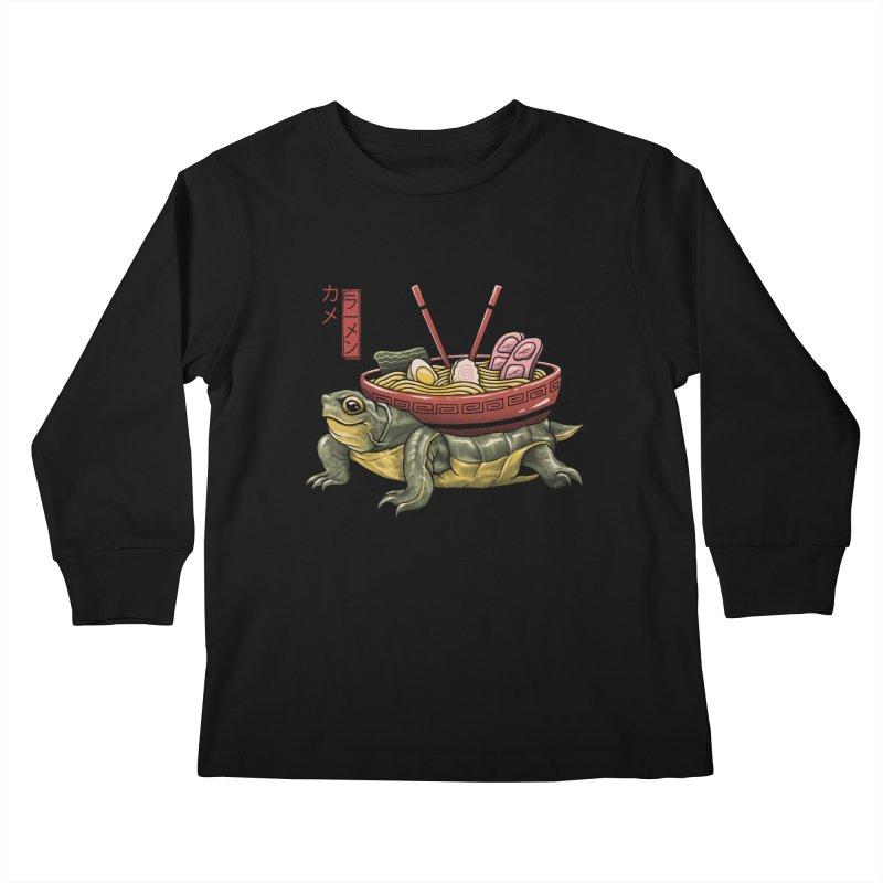 Kame Ramen Kids Longsleeve T-Shirt by Vincent Trinidad Art