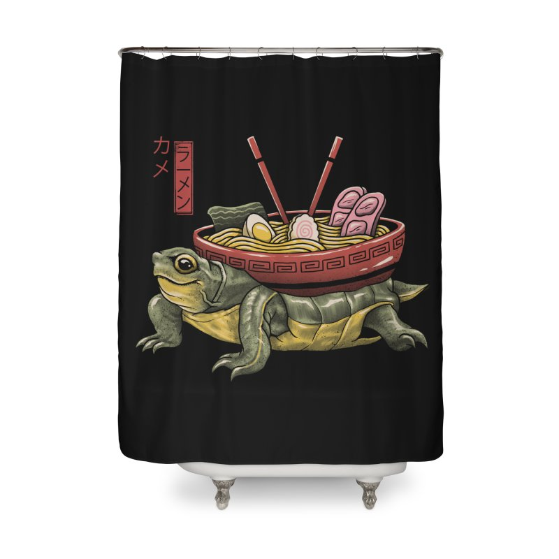 Kame Ramen Home Shower Curtain by Vincent Trinidad Art