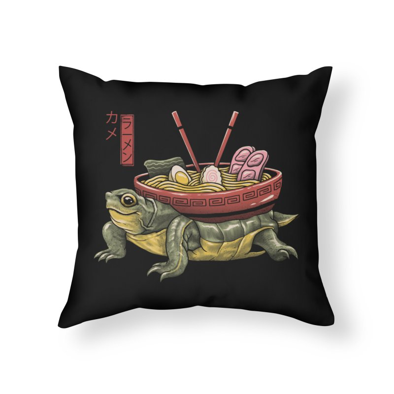 Kame Ramen Home Throw Pillow by Vincent Trinidad Art