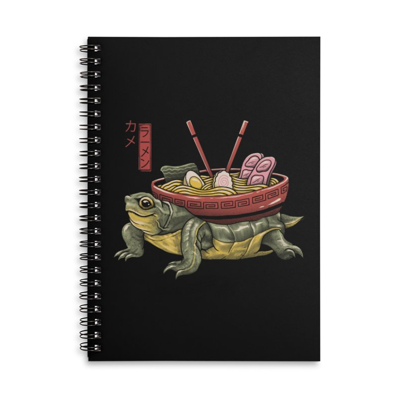 Kame Ramen Accessories Lined Spiral Notebook by Vincent Trinidad Art