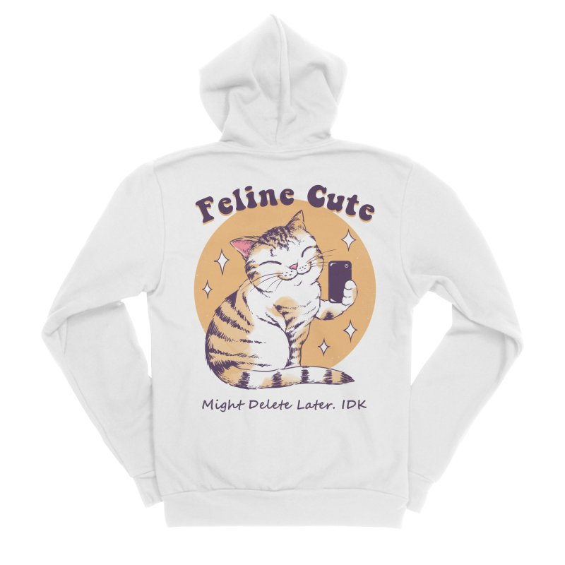 Feline Cute Challenge Men's Sponge Fleece Zip-Up Hoody by Vincent Trinidad Art