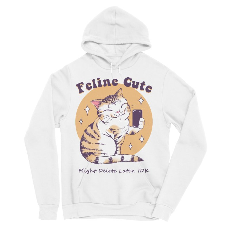 Feline Cute Challenge Women's Sponge Fleece Pullover Hoody by Vincent Trinidad Art