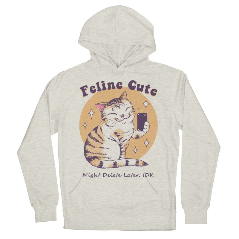 Feline Cute Challenge Men's French Terry Pullover Hoody by Vincent Trinidad Art