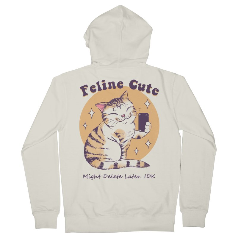 Feline Cute Challenge Women's French Terry Zip-Up Hoody by Vincent Trinidad Art