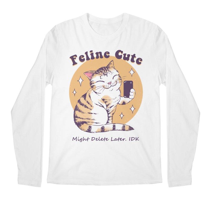 Feline Cute Challenge Men's Regular Longsleeve T-Shirt by Vincent Trinidad Art
