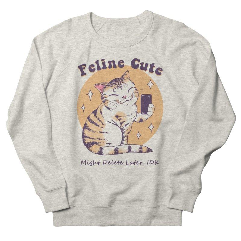 Feline Cute Challenge Men's French Terry Sweatshirt by Vincent Trinidad Art