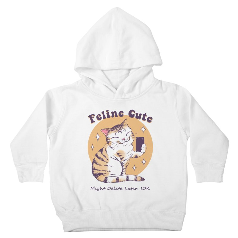 Feline Cute Challenge Kids Toddler Pullover Hoody by Vincent Trinidad Art