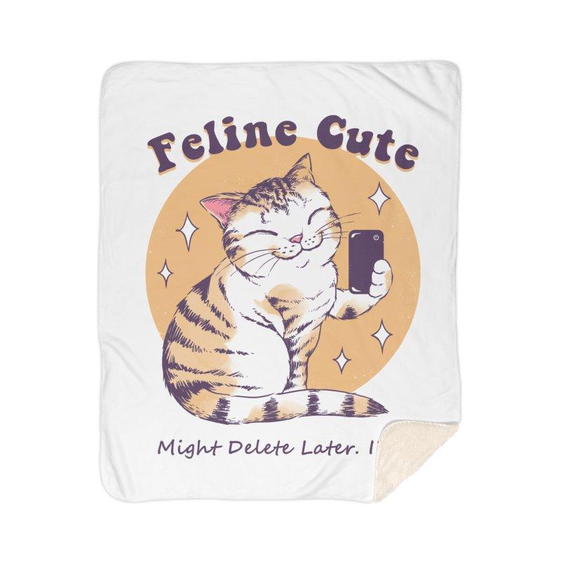 Feline Cute Challenge Home Sherpa Blanket Blanket by Vincent Trinidad Art