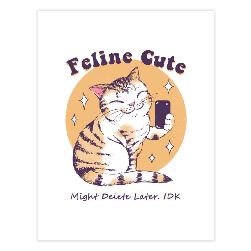 Feline Cute Challenge Home Fine Art Print by Vincent Trinidad Art