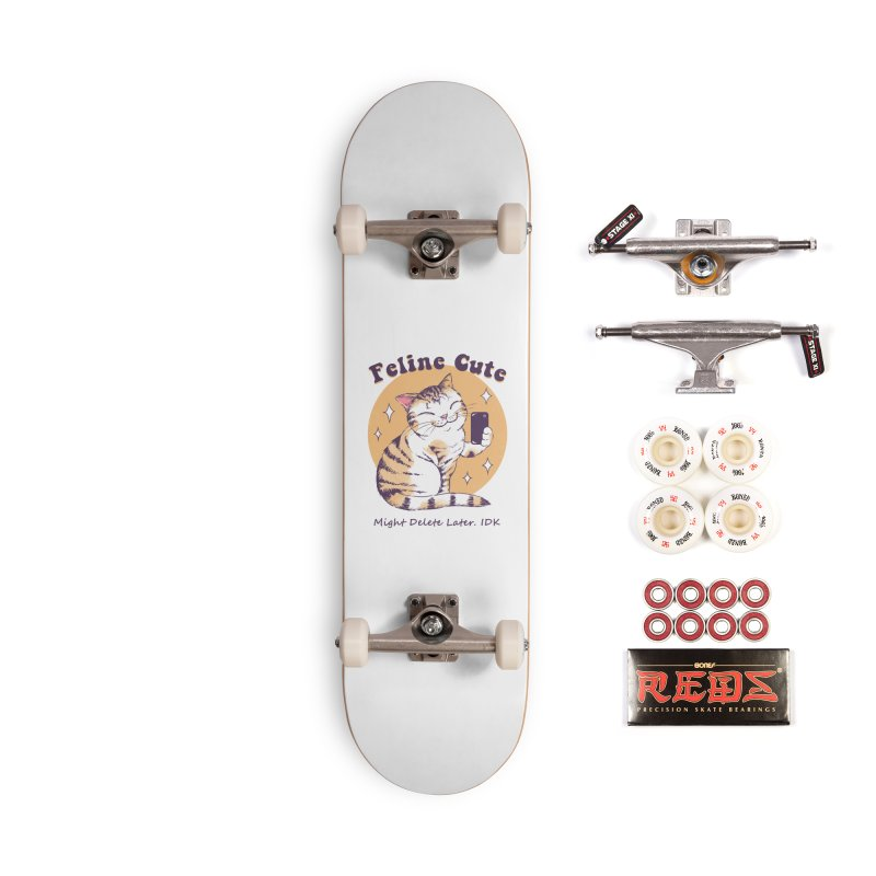 Feline Cute Challenge Accessories Complete - Pro Skateboard by Vincent Trinidad Art