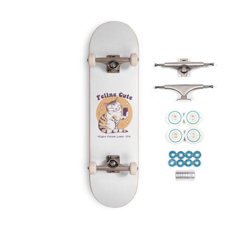 Feline Cute Challenge Accessories Complete - Basic Skateboard by Vincent Trinidad Art