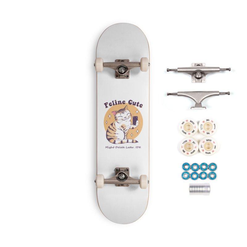 Feline Cute Challenge Accessories Complete - Premium Skateboard by Vincent Trinidad Art