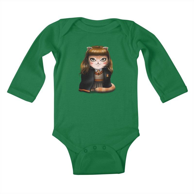 Hermeowne Kids Baby Longsleeve Bodysuit by vincenttrinidad's Artist Shop
