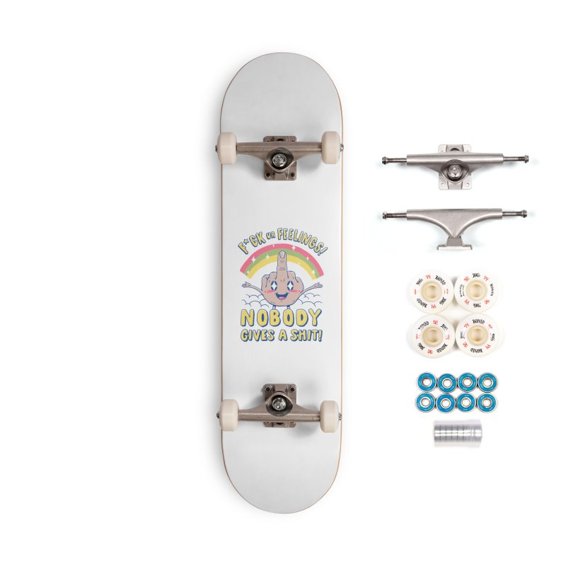 Nobody Gives a Sh*t! Accessories Complete - Premium Skateboard by Vincent Trinidad Art