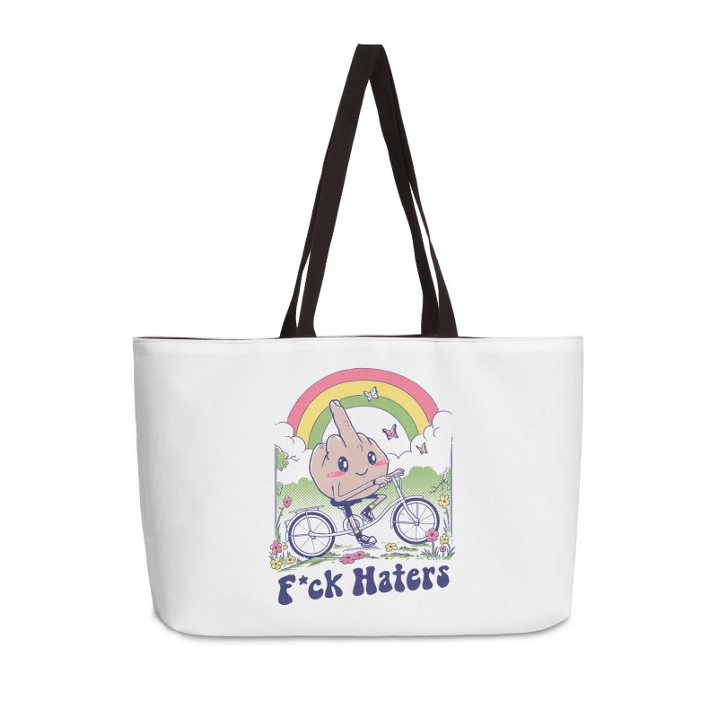 F*ck the Haters Accessories Weekender Bag Bag by Vincent Trinidad Art