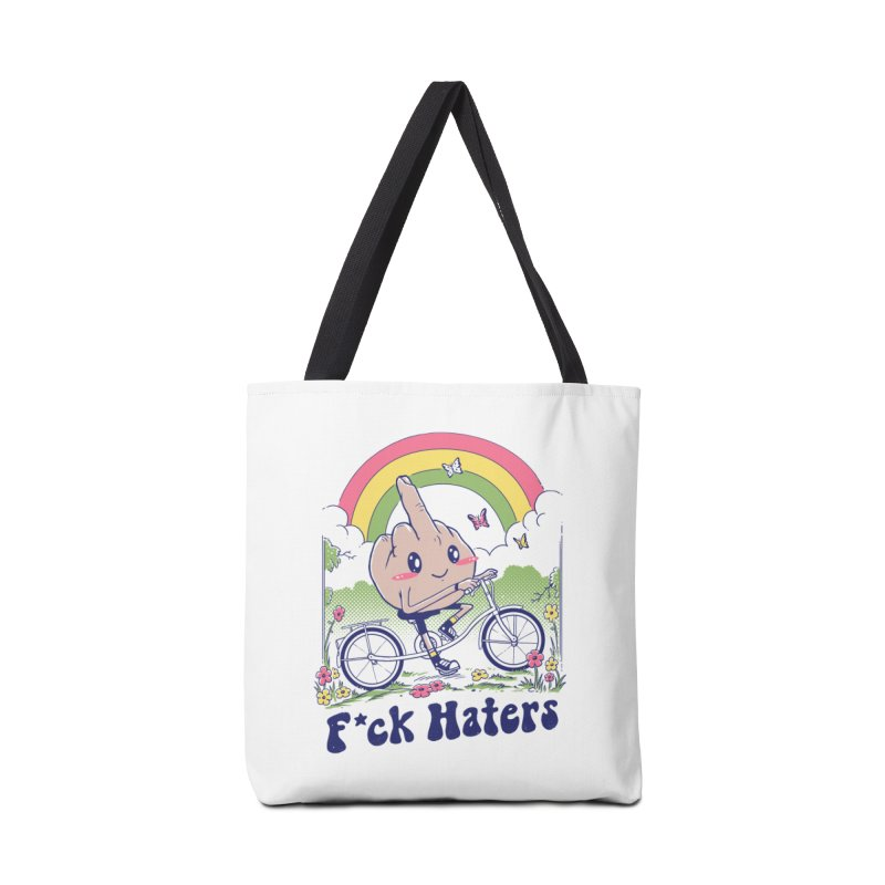 F*ck the Haters Accessories Tote Bag Bag by Vincent Trinidad Art