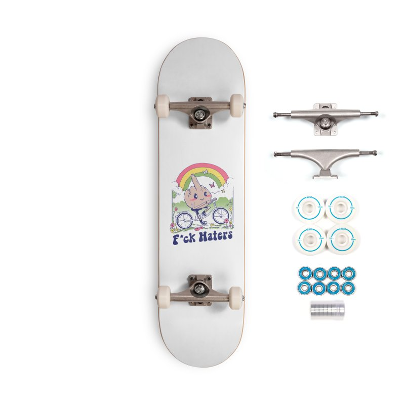 F*ck the Haters Accessories Complete - Basic Skateboard by Vincent Trinidad Art