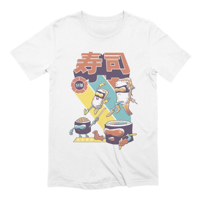 Sushi Sentai Men's Extra Soft T-Shirt by Vincent Trinidad Art