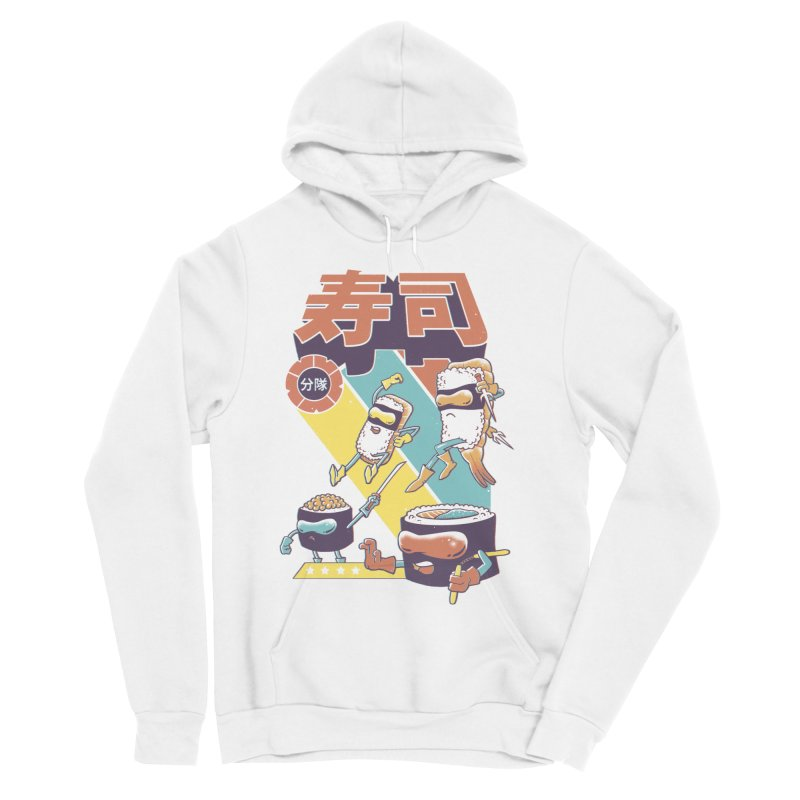 Sushi Sentai Women's Sponge Fleece Pullover Hoody by Vincent Trinidad Art