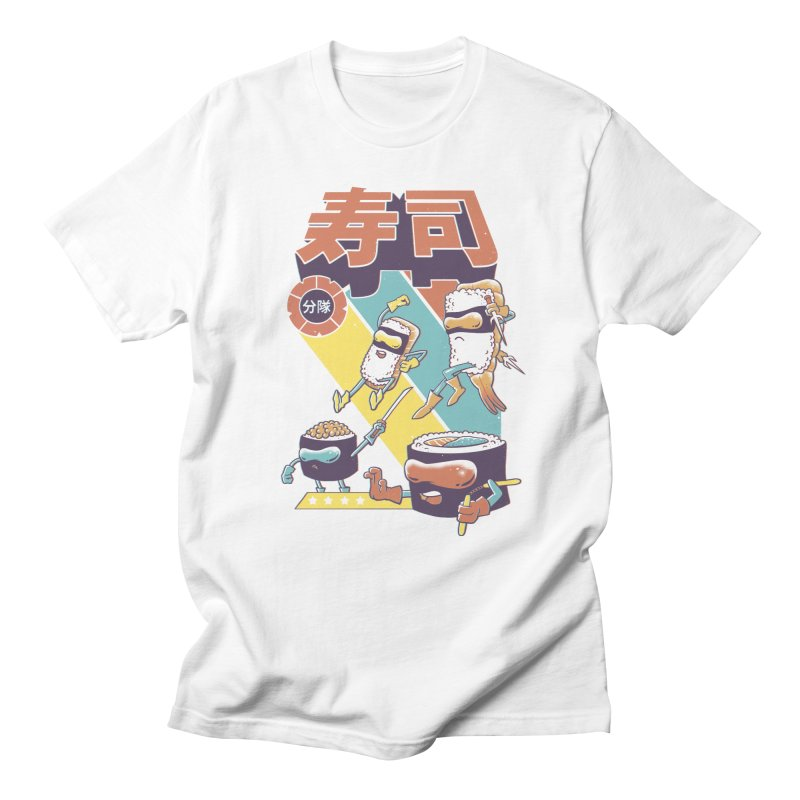Sushi Sentai Men's Regular T-Shirt by Vincent Trinidad Art