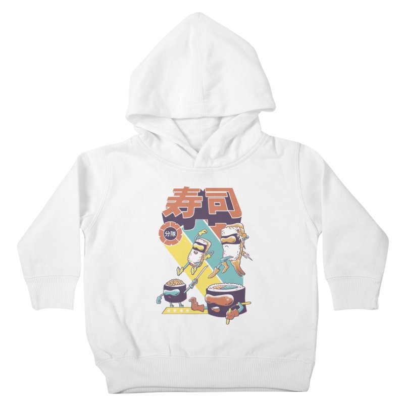 Sushi Sentai Kids Toddler Pullover Hoody by Vincent Trinidad Art