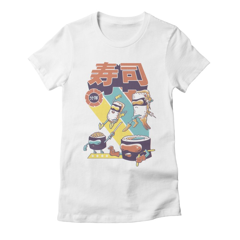Sushi Sentai Women's Fitted T-Shirt by Vincent Trinidad Art
