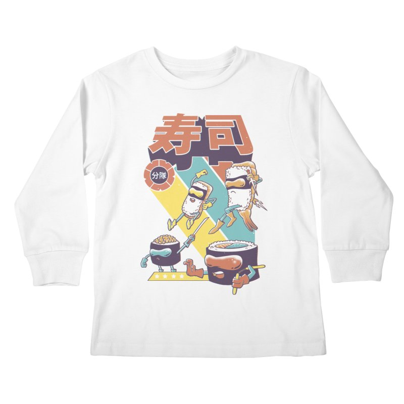 Sushi Sentai Kids Longsleeve T-Shirt by Vincent Trinidad Art